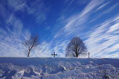 Winterblautöne