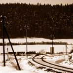 Winterdampf 1993 in Thüringen - wann kommt der Zug?