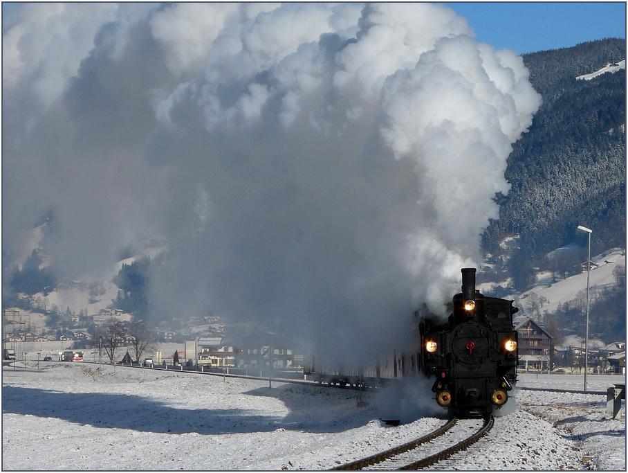 Winterdampf im Zillertal
