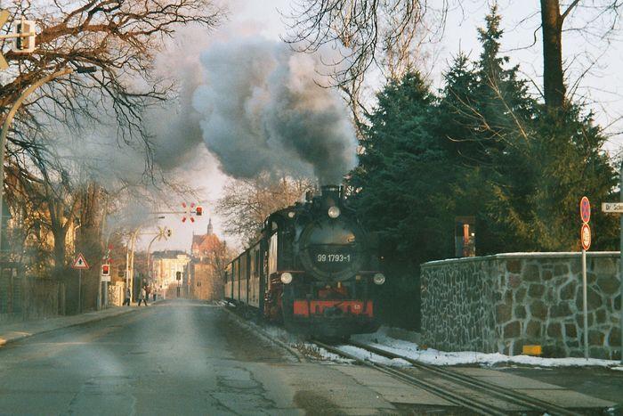 Winterdampf in Radebeul