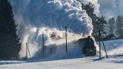 Winterdampf pur mit der 58 311 und T3 930