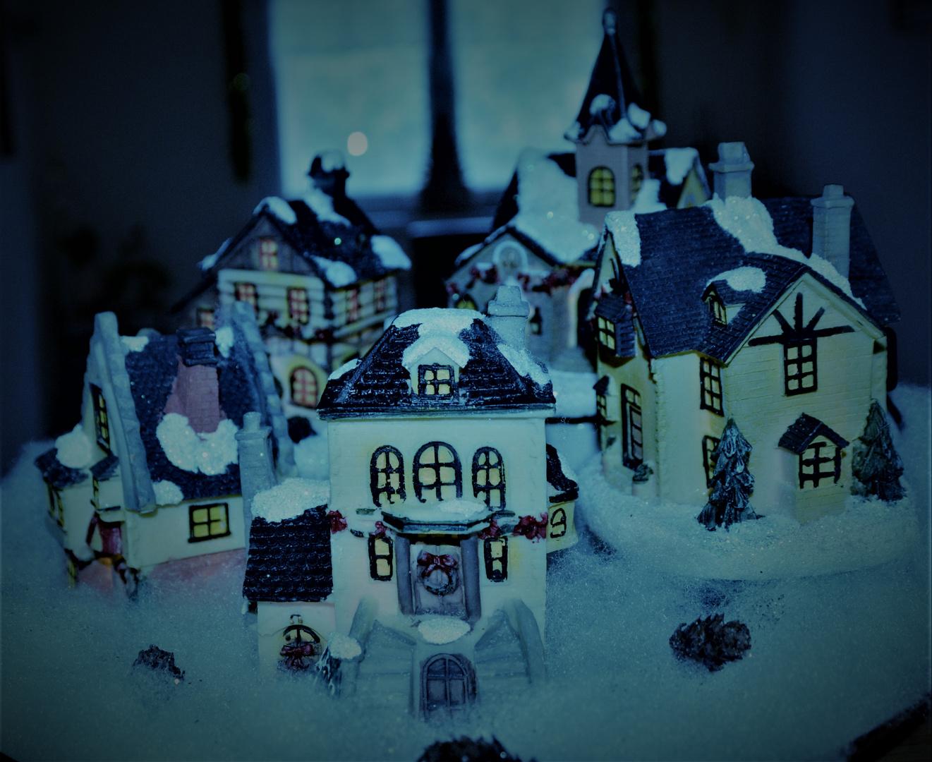 Winterdorf im November Licht