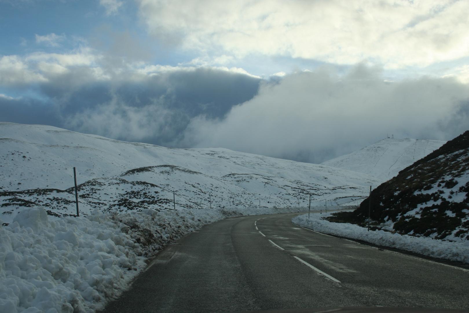 Wintereinbruch in den Highlands