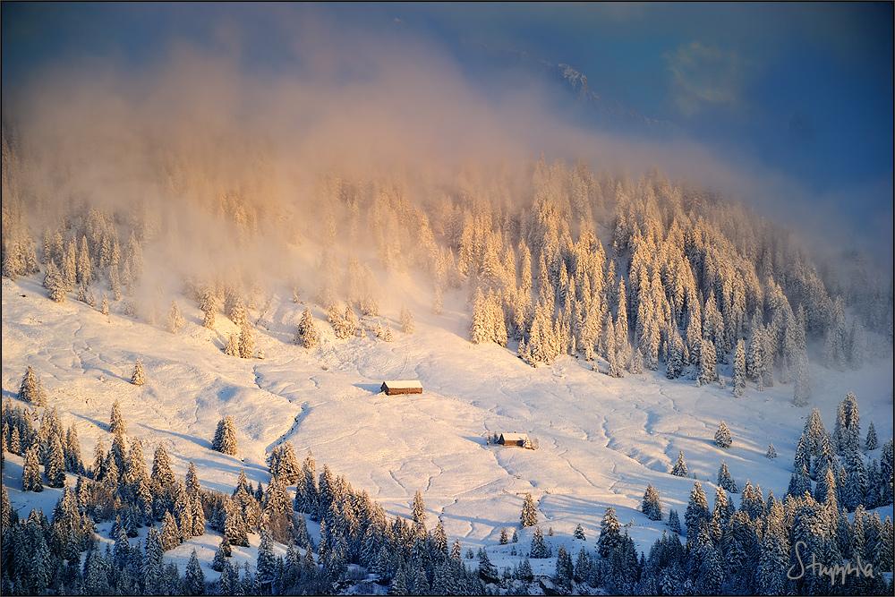 Wintereinbruch in den Wägitaler Alpen