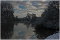 Wintereindrücke von der Ems (Rheine)