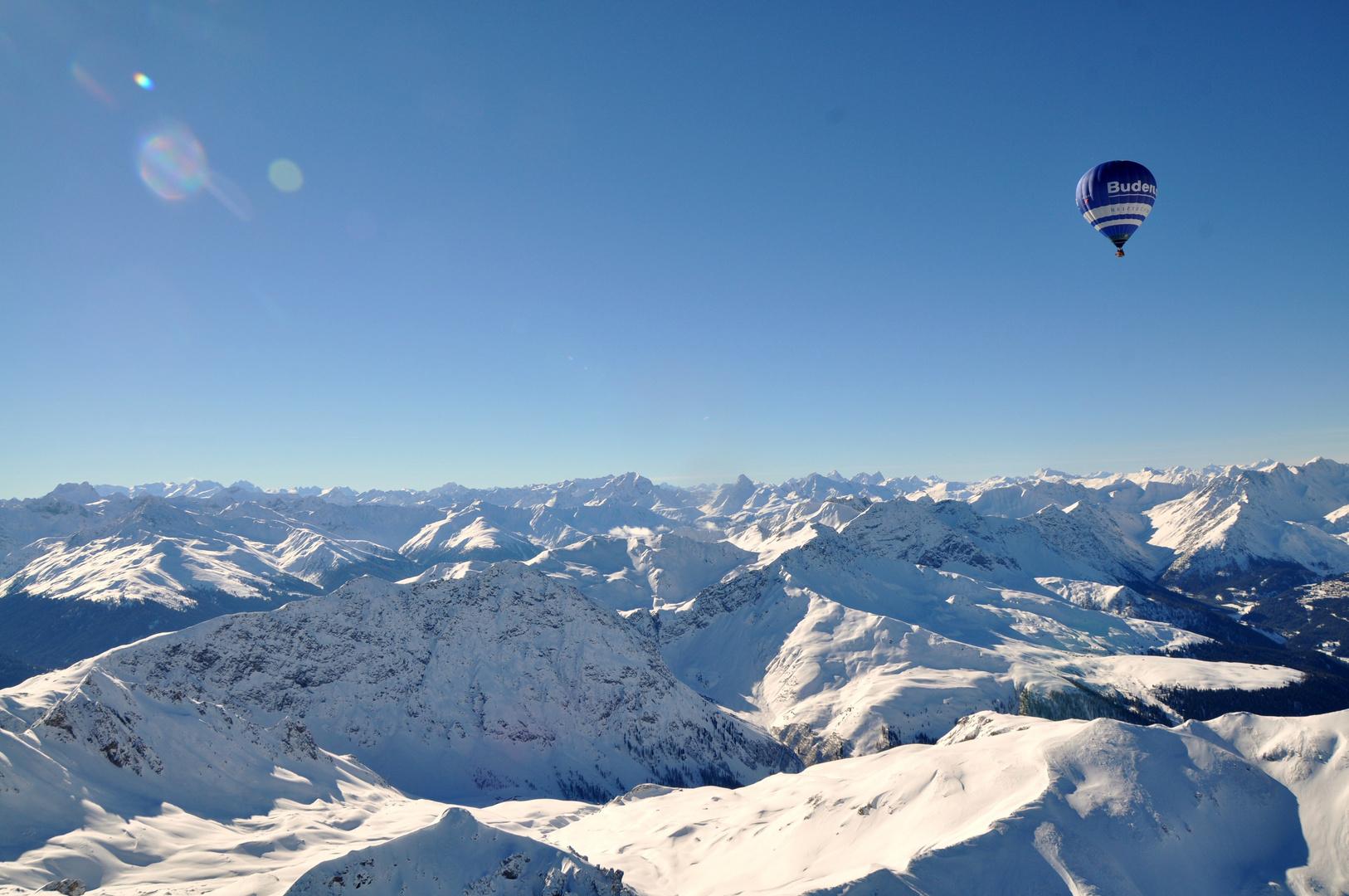 Winterfahrt in den Bergen