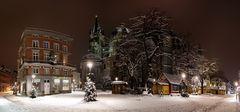 Winteridylle auf dem Aachener Münsterplatz