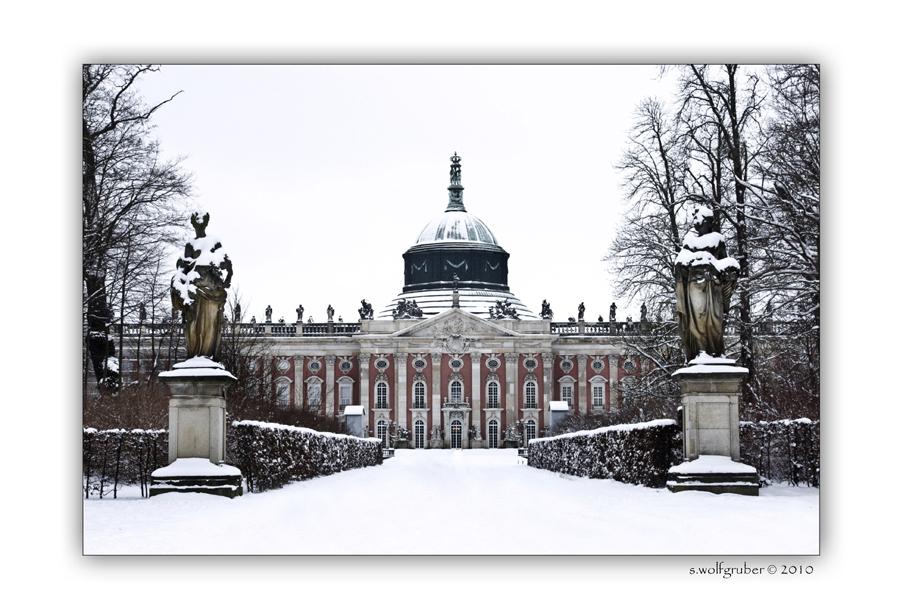Winterimpressionen - Schlosspark Sanssouci .