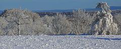 Winterimpressionen vom Gebirgskamm bei der Naklerovska vysina kurz hinter der deutschen Grenze