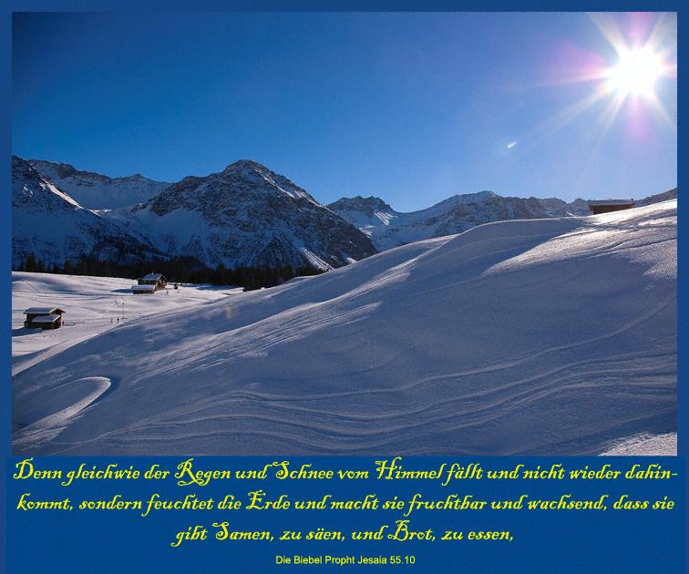 Winterlandschaft bei Arosa