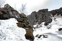 Winterlandschaft im Nationalpark Þingvellir (Thingvellir)