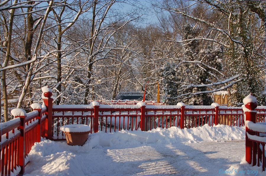 Winterlandschaft im Zoo Leipzig
