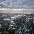 ...Winterlandschaft in der sächsischen Schweiz...