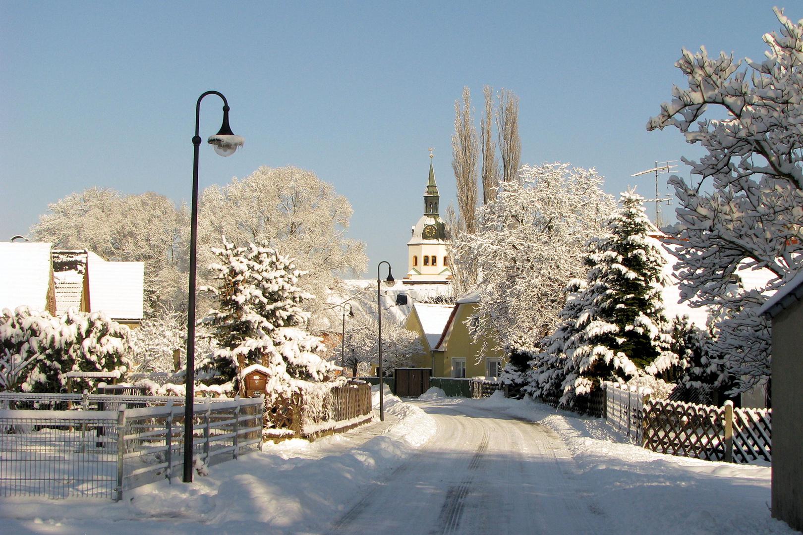 Winterlandschaft nicht nur in den Bergen