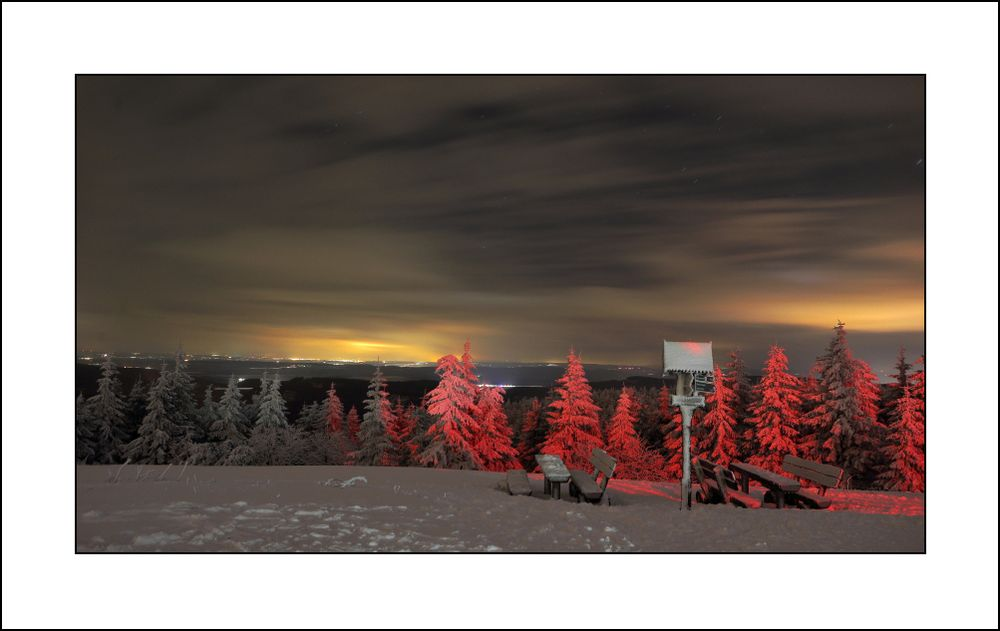 Winterleuchten am Schneekopf