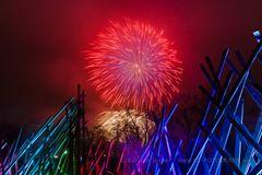 Winterleuchten Feuerwerk