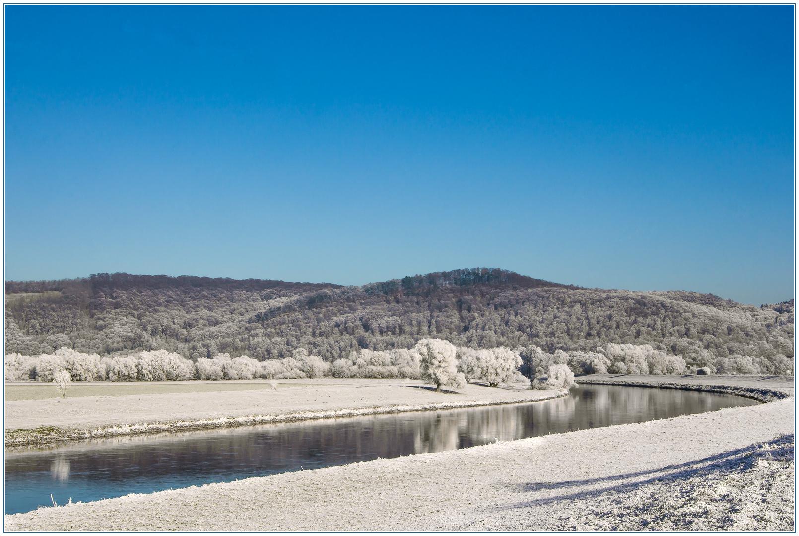 Winterlich be-schau-liches Wesertal...