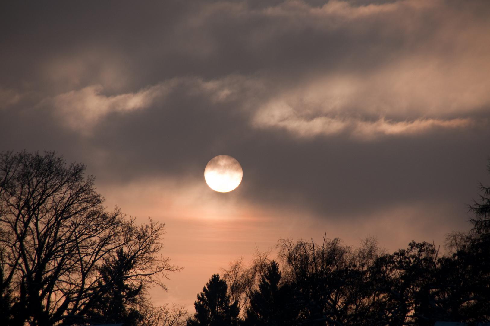 winterliche Abendsonne