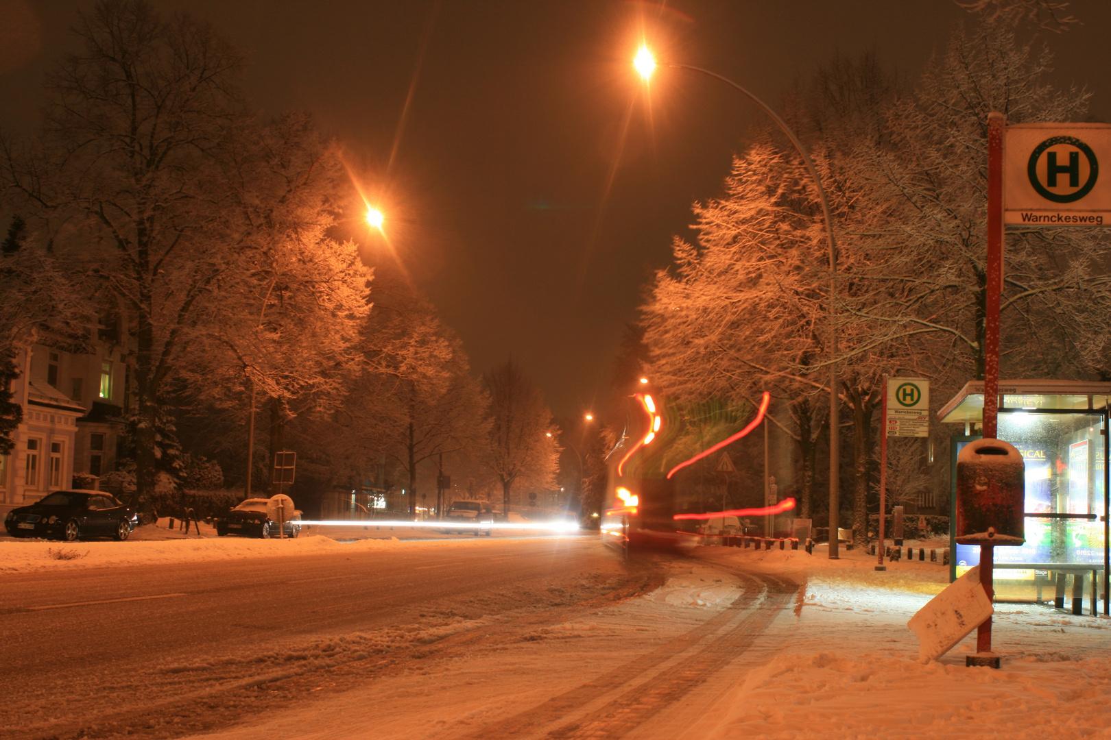 Winterliche Borsteler Chaussee! / Borsteler Chaussee (avenida) invernal! - Part1