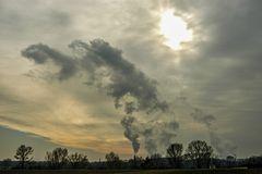 winterliche dampf- und rauchschwaden...