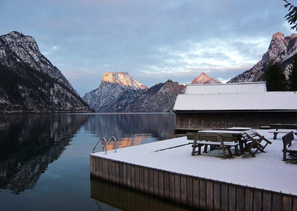 ... winterliche Ruhe am Traunsee