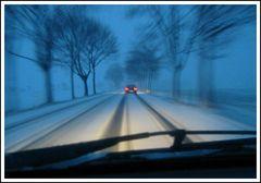 Winterliche Straße