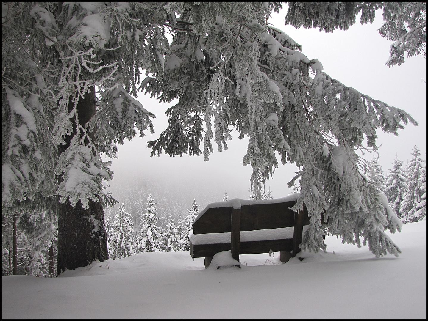 Winterlicher Aussichtspunkt