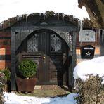 Winterlicher Hauseingang