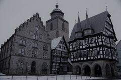 Winterlicher Marktplatz