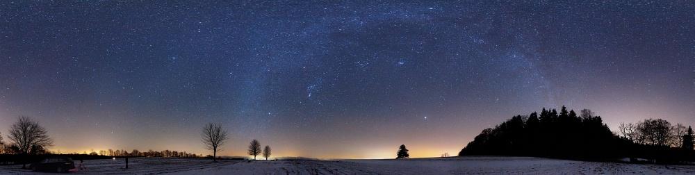Winterlicher Milchstraßen-Bogen