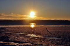 Winterlicher Nachmittag am Meer