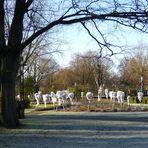 Winterlicher Rosengarten