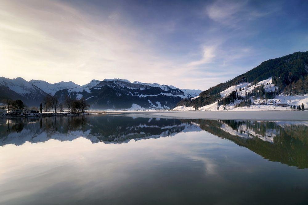 Winterlicher Sihlsee
