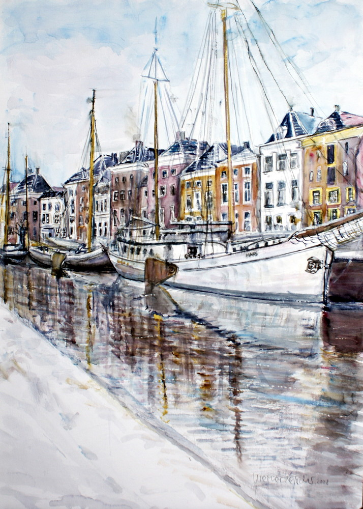 Winterliches Groningen - Niederlande