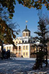 Winterliches Schloss Belvedere