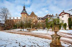 Winterliches Schloss Laubach