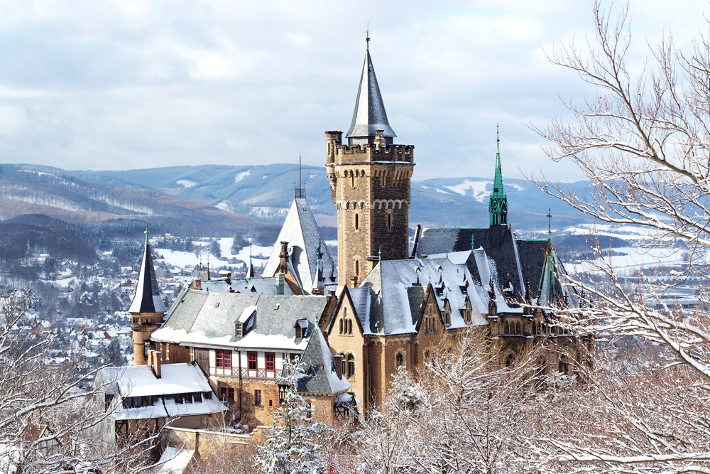 Winterliches Schloss Wernigerode