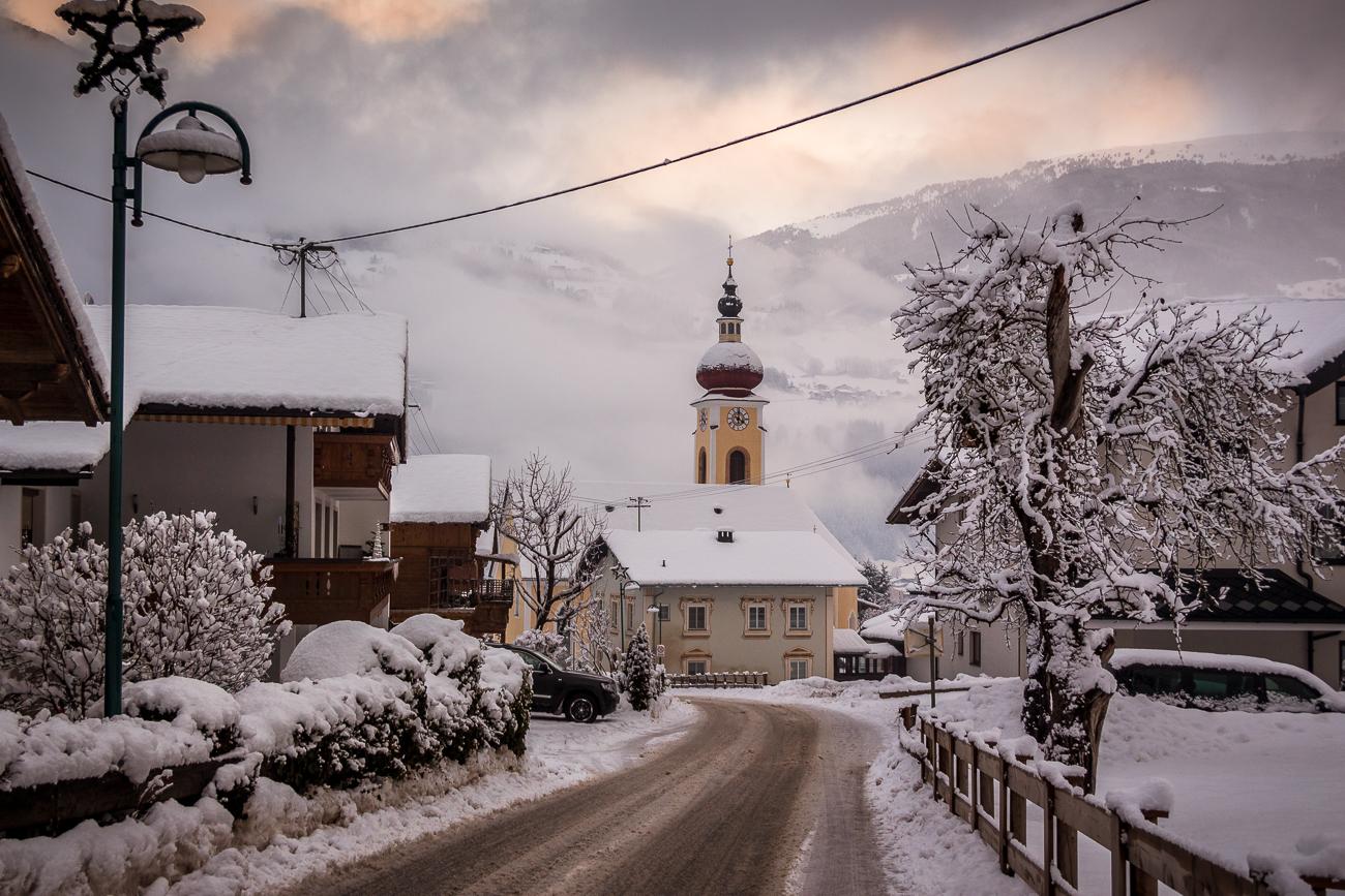 Winterliches Zillertal