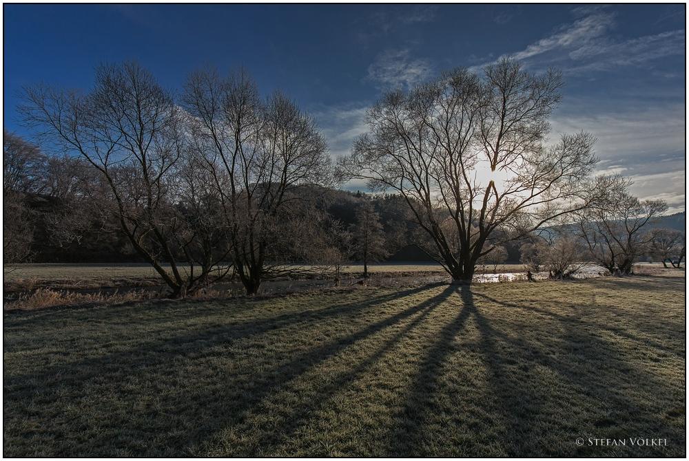 Wintermorgen an der Eder