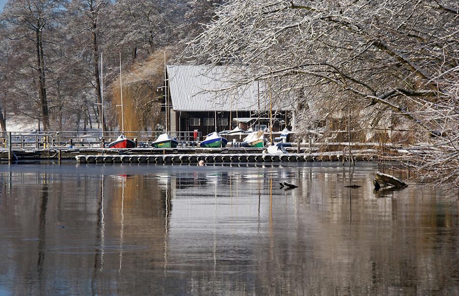 Wintermorgen im Gutspark, 17.02.09 – 24