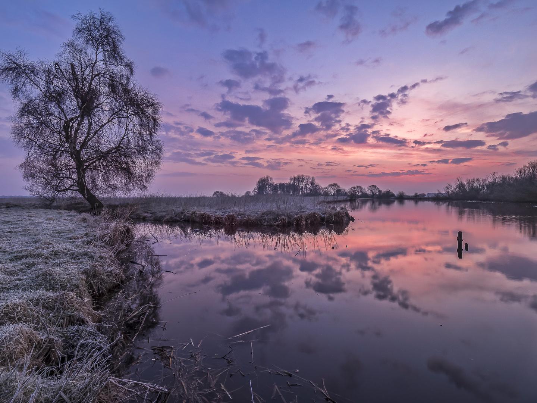 Wintermorgen im Teufelsmoor