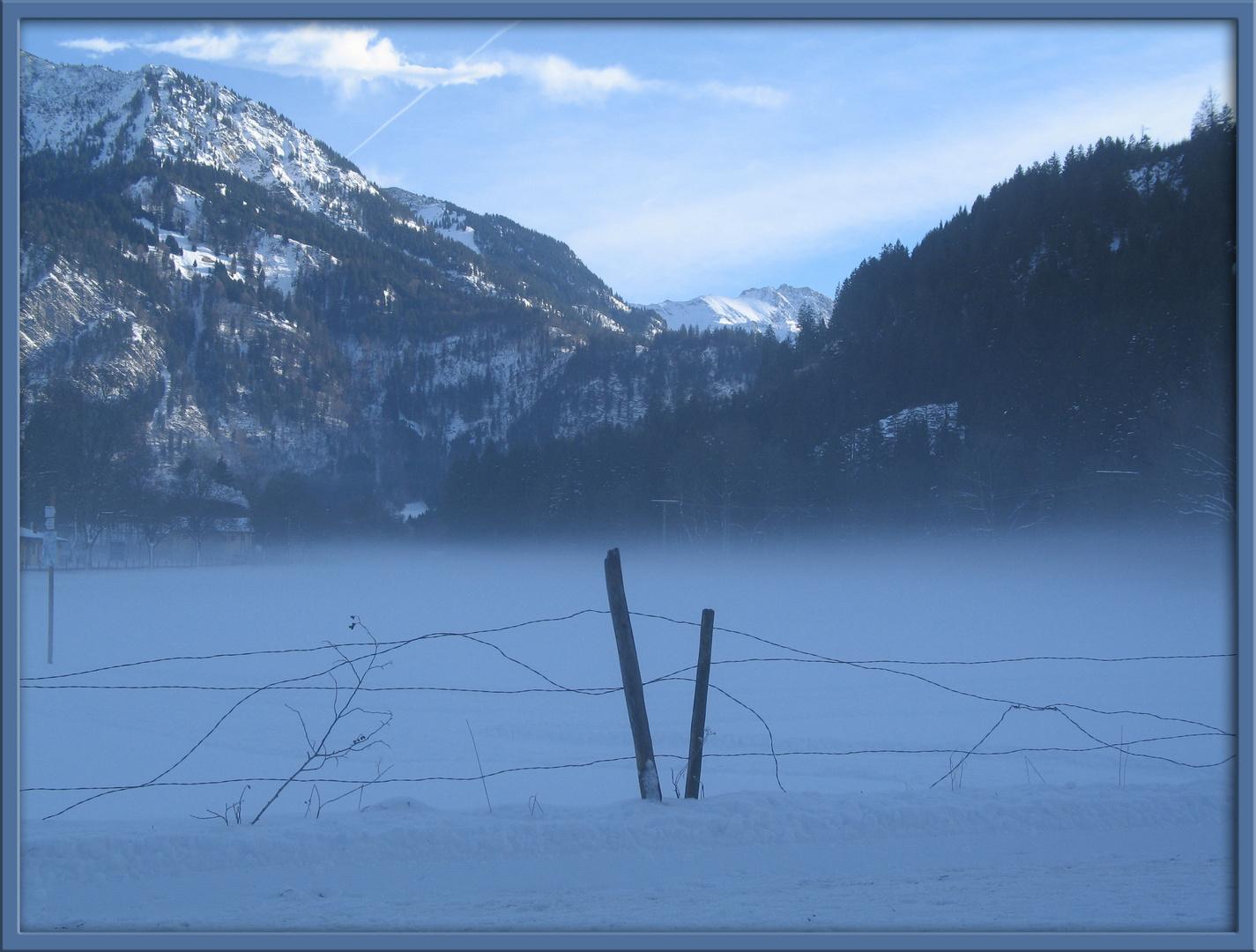Wintermorgen in Hindelang
