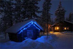 Wintermorgen in Nordfinnland