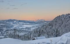 Wintermorgen mit Aussicht