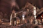 Winternacht am Schloss Kranzbach