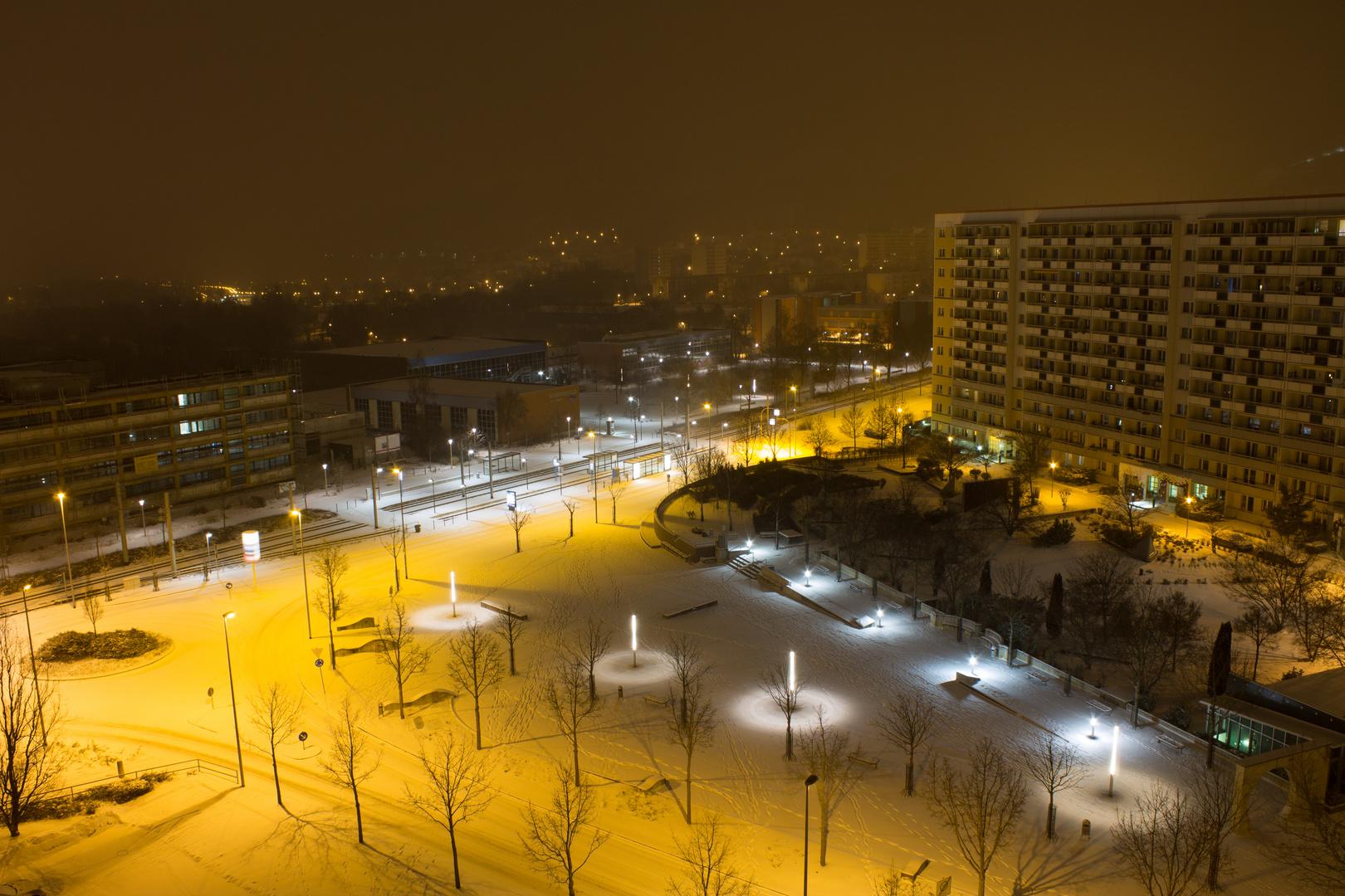 Winternacht in Lobeda