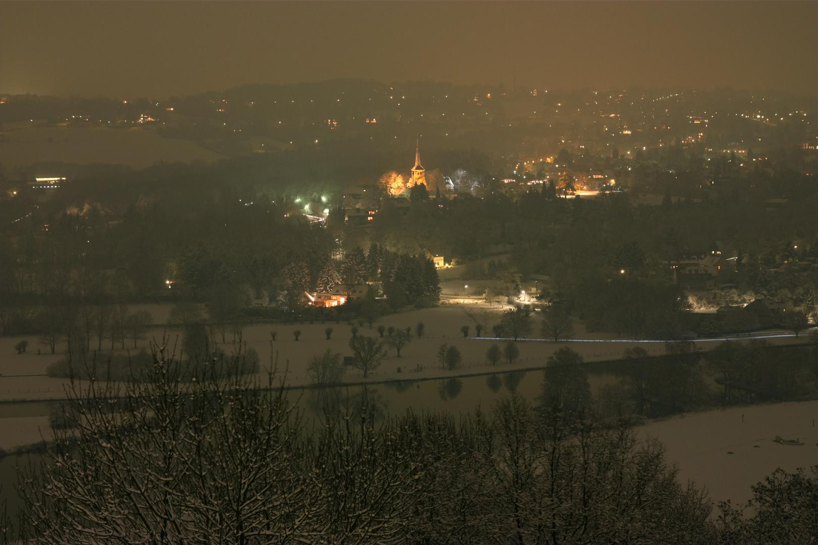 Winternacht über'm Ruhrtal