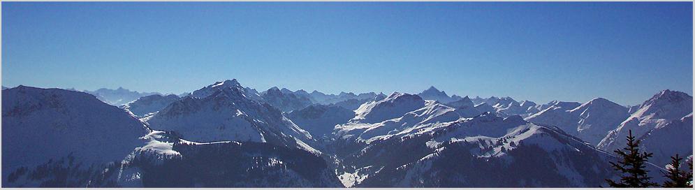 Winterpanorama Allgäuer Alpen