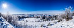 Winterpanorama Lappwaldsee