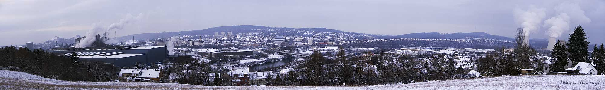 Winterpanorama von Völklingen/Saar